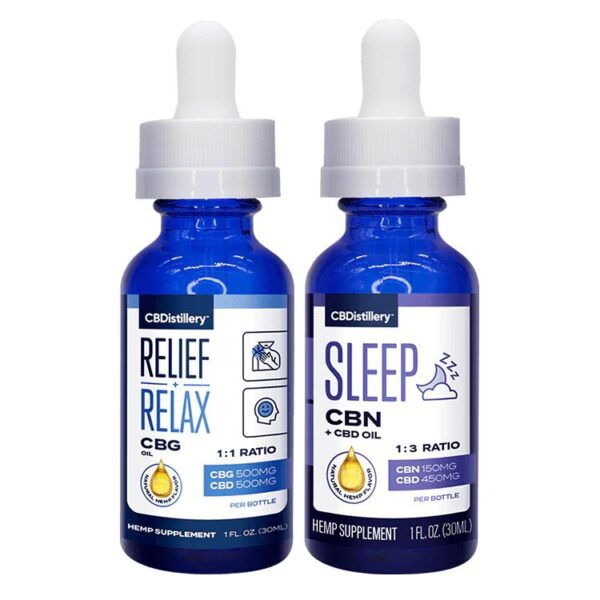 Cannabinoid Mix Pack - CBG:CBD Tincture & CBN:CBD Tincture