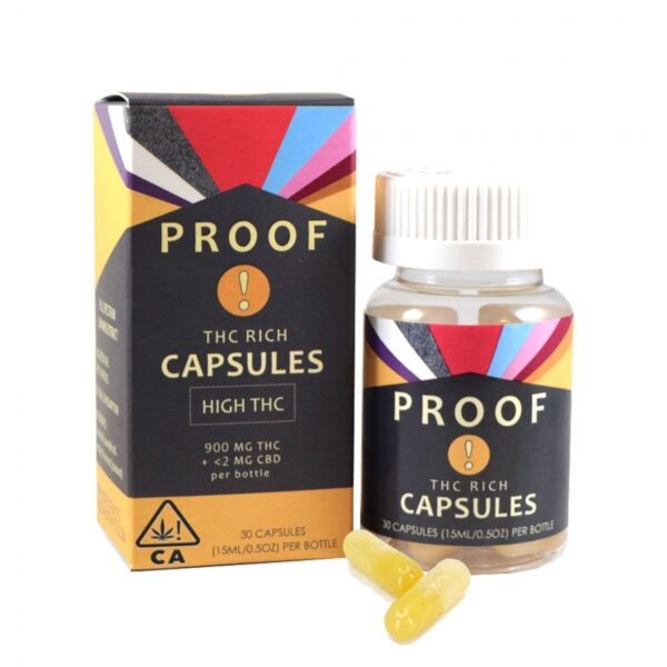 Proof Extract THC Rich Capsules